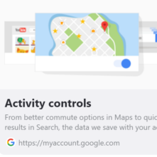 Google activity controle